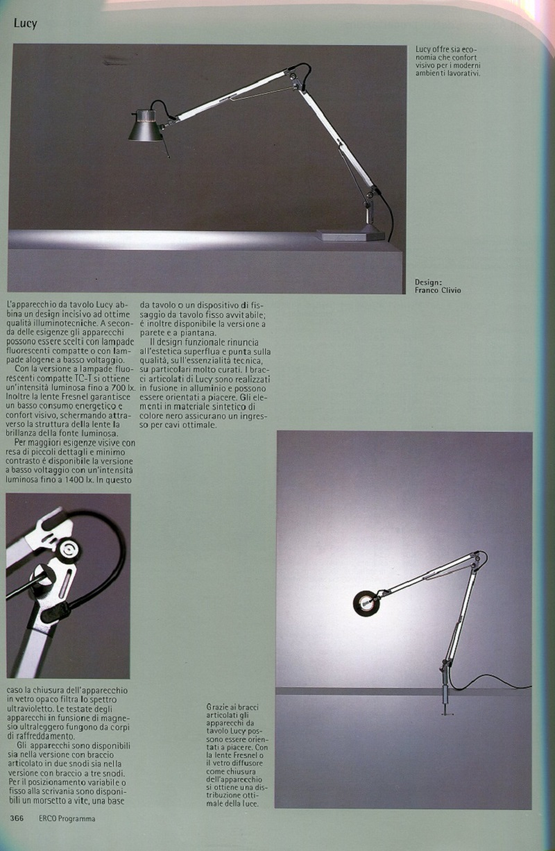 Idealux ERCO Lucy Table Catalogue